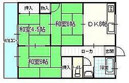 沖田コーポラス (YJ)[203号室]の間取り