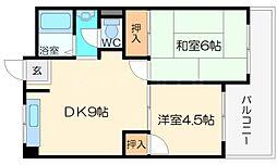 石川マンション[5階]の間取り
