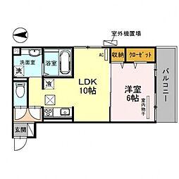 CozyCote西野(コージーコート)[103号室号室]の間取り