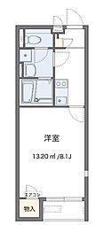 小田急小田原線 愛甲石田駅 徒歩14分の賃貸アパート 1階1Kの間取り