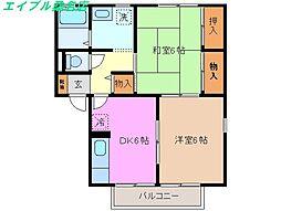 AIKA A[2階]の間取り