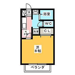 サン・friends三ツ井 A棟[2階]の間取り