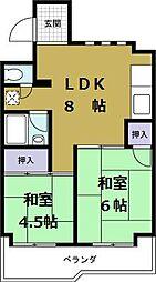 サンハイム星場[2階]の間取り