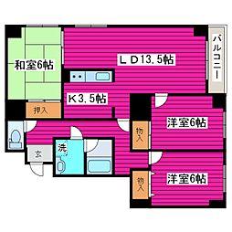 北海道札幌市北区篠路二条6丁目の賃貸マンションの間取り