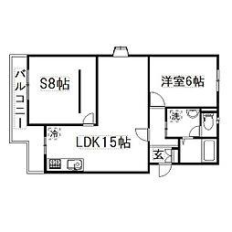 静岡県浜松市東区和田町の賃貸マンションの間取り