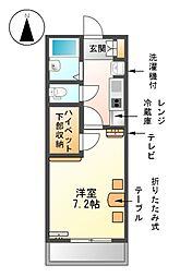愛知県名古屋市中川区笈瀬町2丁目の賃貸マンションの間取り
