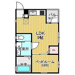 愛知県名古屋市中川区十番町2丁目の賃貸マンションの間取り