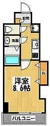大阪府大阪市東成区中本4丁目の賃貸マンションの間取り