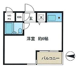 ライオンズマンション学芸大学第三[2階]の間取り