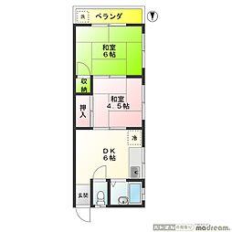 桜マンション 50B[302号室]の間取り