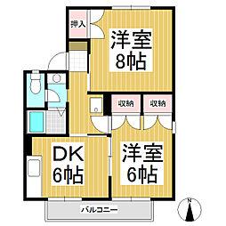 須坂ガーデンヴィラ C棟[1階]の間取り