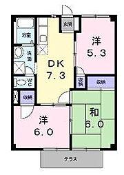 サンコーポ和泉[1階]の間取り