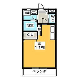 栃木県宇都宮市峰3の賃貸アパートの間取り
