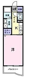 JR山陽本線 東尾道駅 徒歩25分の賃貸アパート 1階1Kの間取り
