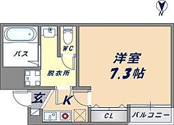 シエテ生野東[2階]の間取り