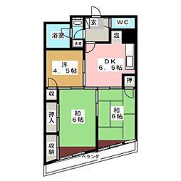セブンスターマンション[2階]の間取り