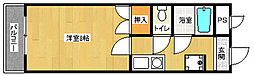 京都府京都市右京区西院坤町の賃貸マンションの間取り