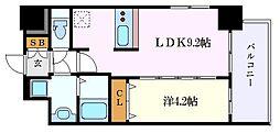 ファステート名古屋ラプソディ 2階1LDKの間取り