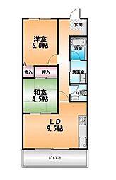アイユール21[205号室]の間取り
