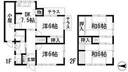 [一戸建] 兵庫県西宮市神呪町 の賃貸【/】の間取り