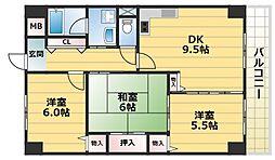 さんさん吉田[1階]の間取り