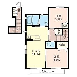 ベル タウンII[2階]の間取り