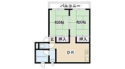 摂津ハイツ[305号室]の間取り