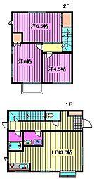 [テラスハウス] 埼玉県さいたま市浦和区上木崎7丁目 の賃貸【/】の間取り