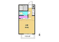 霞ヶ関フラット[203号室]の間取り
