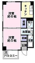 誠和マンション[4階]の間取り