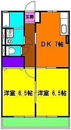静岡県浜松市東区笠井上町の賃貸アパートの間取り