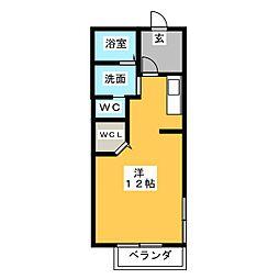 エクシール竪堀B[2階]の間取り