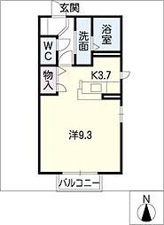 ツインフォレストB棟[1階]の間取り