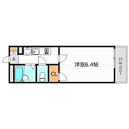 Osaka Metro谷町線 千林大宮駅 徒歩16分の賃貸マンション 1階1Kの間取り