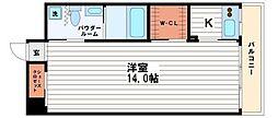 大阪府大阪市中央区道修町2丁目の賃貸マンションの間取り