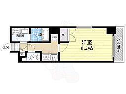 RELUXIA本所吾妻橋2 8階1Kの間取り