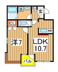 スぺリオK−1[203号室]の間取り