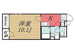 JR成田線 成田空港駅 バス28分 大清水下車 徒歩5分の賃貸アパート 2階1Kの間取り