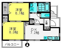 藤ハイム[A201号室]の間取り
