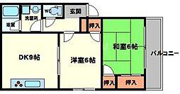 武智マンション[2階]の間取り