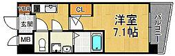 兵庫県西宮市甲子園高潮町の賃貸マンションの間取り