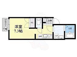 東武伊勢崎線 東向島駅 徒歩4分の賃貸アパート 1階ワンルームの間取り