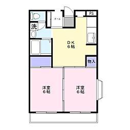 ラファミーユII[2階]の間取り