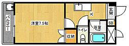 京都府京都市中京区西ノ京銅駝町の賃貸マンションの間取り
