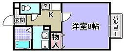 スターハイツ松ノ浜[206号室]の間取り