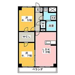 Refuge・F[3階]の間取り