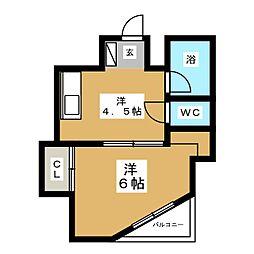 亀井ビル[2階]の間取り