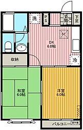 コーポマサキ[203号室]の間取り