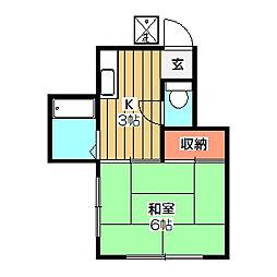 学園コーポ[2階]の間取り