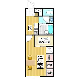 レオパレスSUNRISE57[2階]の間取り